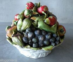 capodimonte porcelain bowl of assorted