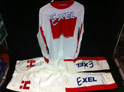 Rare Nos 1980s Hutch Exel Jersey Mens M And Pants 32 Old School Bmx Trick Star