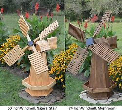 Amish-made Wooden Dutch Windmill Yard Decoration - Available In 21 Finishes