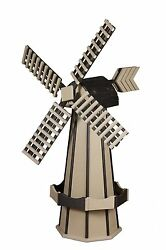 Amish-made Poly Windmill Yard Decorations 60 Tall - Available In 20+ Colors