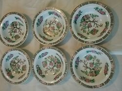 Wood And Sons China Set Of 6 Fruit Bowls Indian Tree