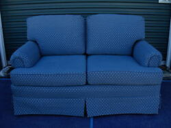Rare Vintage Love Seat-slate Blue-pennsylvania House Consensus 50 Couch Settee