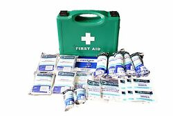 Hse 1-10 First Aid Kit - Cuts Wounds Burns Accidents At Work Also Refills
