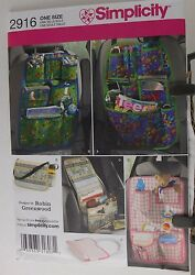 Simplicity 2916 One Size Car Seat Assorted Organizer By Robin Greenwood