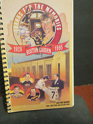 NFL- 1995 BOSTON BRUINS GUIDE & RECORD BOOK-''thanks for the memories