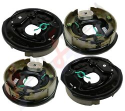 4pc Electric Trailer Brake 12 X 2 Assembly Right And Left Side 6000 7000 Axle