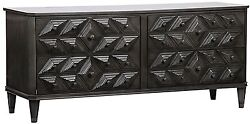 72.5 Long Bevis 6 Drawer Dresser Pale Solid Mahogany Pale Finish