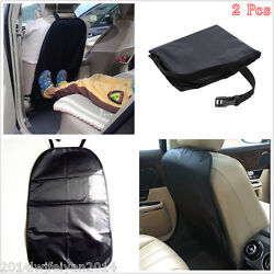2pc Universal Child Baby Kick Anti Dirty Protector Mat Car Seat Back Clean Cover