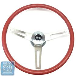Andldquossandrdquo Special 3 Spoke Red Cushion Grip Steering Wheel With Ss Cap Set
