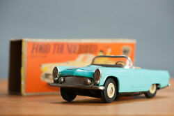 Antique Tin Toy Boxed Cabrio Friction 1955 Ford Thunderbird Japanese Car
