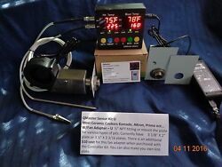 QMaster BBQ Auto. Temp. Controller Universal Fan Adapter  For Ceramic Smokers