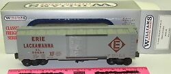 New Williams Classic Freight Car No. 35 Erie Lack Box Boxcar Wal 3235