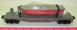 Lionel New 04040 Usn Flatcar With Boat