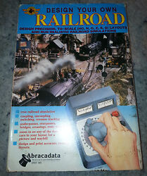 Design Your Own Railroad W/ Manual And More In Box W/ 5 1/4 And 3 1/2 Disks....