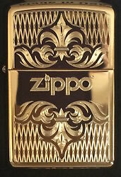 Zippo Windproof Brass Lighter With Regal Design And Zippo Logo 51155 New In Box