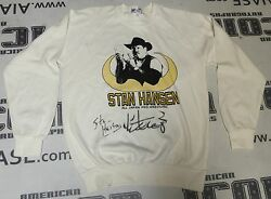 Giant Shohei Baba And Stan Hansen Signed Shirt Psa/dna Wwe All Japan Pro Wrestling