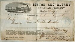 1875 Boston And Albany Railroad Co. Date Stamped Receipt On Locomotive Letterhead