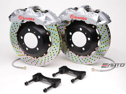 Brembo Front GT BBK Brake 6pot Silver 355x32 Drill Challenger Charger 300C 11+