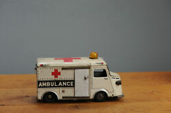 Antique Tin Toy Rare Bandai 1950 Citroen Hy Ambulance Car Van Japan
