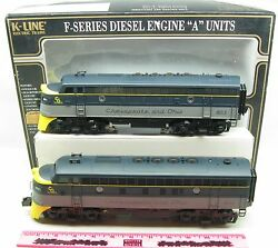 K-line K-2515 Chesapeake And Ohio 8012 And8012 Both Powered A Unit