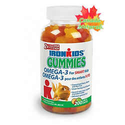 Iron Kids Gummies Omega 3#x27;s for Smart Kids 200 Gummies