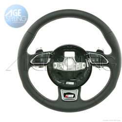 Audi A4 S4 Leather Steering Wheel Extended S-tronic Gear Paddle Shifters 2012-17