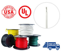 12 Awg Marine Wire Spool Tinned Copper Primary Boat Cable 100 Ft. White Usa Made