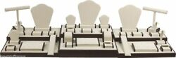 Showcase Jewelry Display Stand Brown Display Set For Jewelry Store Displays 35pc