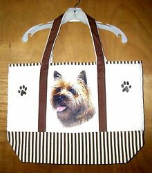 CAIRN TERRIER - 100% Cotton Canvas heavy duty X-Large TOTE BAG