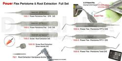 Dental Usa-power Flex Periotome And Root Extraction Full Set Of 8 Code-1930fs
