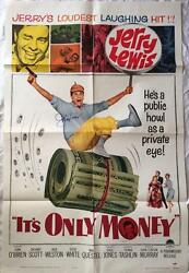JERRY LEWIS Signed It's Only Money 1962 27x41 Original Poster PSADNA COA Proof