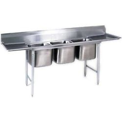 Eagle Group 412-16-3-18, Stainless Steel Commercial Compartment Sink With Three