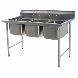 Eagle Group 414-24-3, Stainless Steel Commercial Compartment Sink With Three 24-