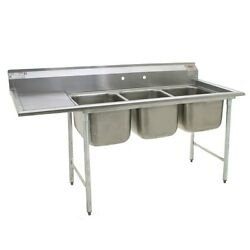 Eagle Group 414-24-3-24l, Stainless Steel Commercial Compartment Sink With Three