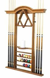 Deluxe Wall Hanging Billiard Cue Rack Stand - Free Shipping