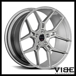 20 Giovanna Haleb Silver Concave Wheels Rims Fits Ford Mustang Gt Gt500