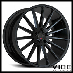 20 Gianelle Verdi Gloss Black Concave Wheels Rims Fits Ford Mustang Gt Gt500