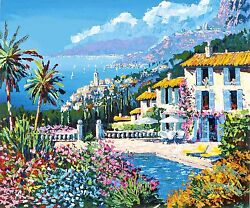 Kerry Hallam - Paradiso (Italian Riviera Suite) hand-signed serigraph on paper
