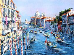 Kerry Hallam - Grand Canal Venice hand-signed serigraph on paper