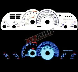 BLUE Reverse El Indiglo Glow White Gauge Face For 93-96 Camaro Z28 5.7L V8