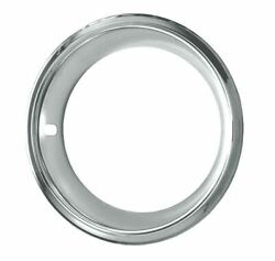 14 Deep Dish Chrome Plated Stainless Trim Rings Chevelle Camaro 1969 1970 14x7