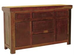Aiden Sideboard 2 Door 5 Drawer 60 X 16 X 36 Hand Crafted 601016ddni