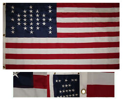 3x5 Embroidered Union Civil War Ft Sumter 600d 2ply Nylon Flag 3'x5'