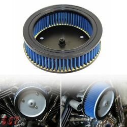 Motorcycle High Flow Round Air Filter For Harley Screaming Eagle Stage 1989-1998