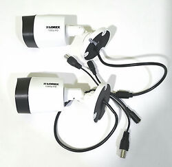 Lorex Hd Analog 1080p In/outdoor Cameras W/ 130and039 Night Vision Lbv2521-c Lot Of 2