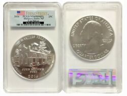 2016 5 Oz Silver Atb Harpers Ferry National Park Coin Pcgs Ms69 Dmpl Fs