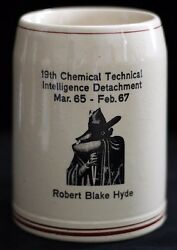 Us 19th Chemical Technical Intelligence Det. German-made Beer Mug Dated 65-67