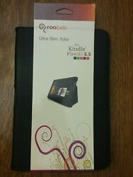 Roocase Dual Station Folio Case For Kindle Fire Hd 8.9 Black Rc-fire-hd8.9-us-bk