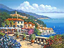 Kerry Hallam - Terrace Rendezvous hand-signed serigraph