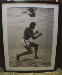 Muhammad Ali Framed & Matted 30 x 38  Iconic Underwater Poster by Flip Schulke